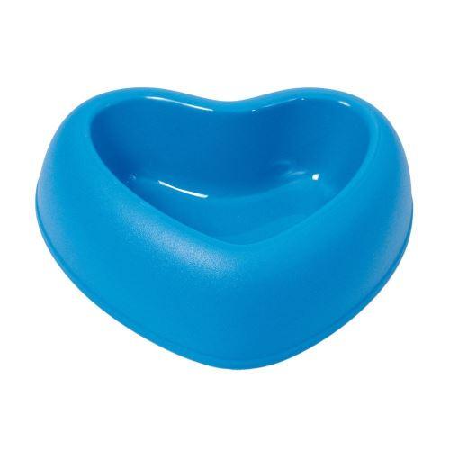 Plastová miska s protiskluzem Argi - srdce - modrá - 250 ml