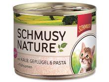 Schmusy Nature Menu Junior konzerva - telecí & drůbeží pro koťata 190 g