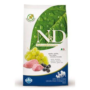 N&D Grain Free Dog Adult Lamb & Blueberry 2,5 kg