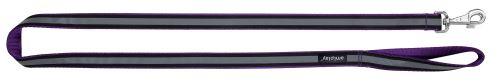 Vodítko pro psa nylonové reflexní - fialové - 2,5 x 150 cm