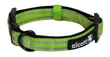 Alcott reflexní obojek pro psy, zelený, velikost M