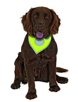 Flamingo Safety Dog Reflexní šátek na krk žlutý