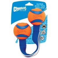 Chuckit! Ultra Duo Tug přetahovadlo se dvěma míčky a poutkem uprostřed - velikost M, průměr míčku 6,5 cm
