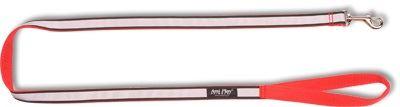 Vodítko pro psa nylonové reflexní - červené - 2,5 x 150 cm