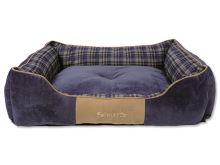 Scruffs Highland Box Bed Pelíšek modrý - velikost XL, 90x70 cm