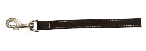 Vodítko pro psa Argi z eko kůže - černé - 1,5 x 125 cm