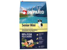 ONTARIO Senior Mini Fish & Rice 0,75 kg
