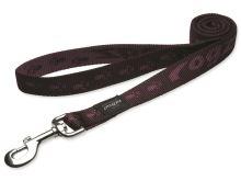 Vodítko pro psa nylonové - Rogz Alpinist - fialové - 2,5 x 120 cm