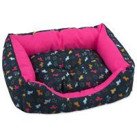 Sofa DOG FANTASY origami pes mix černo-růžové 53 cm 1ks