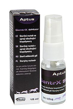 Aptus Sentrx - Sprej pro hojení ran psů, koček a koňů, 15 ml