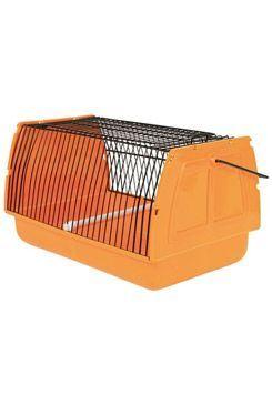 Přepravka pro ptáky 30x18x20cm plast oranžová 1ks TR
