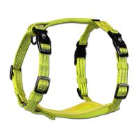 Alcott reflexní postroj pro psy, žlutý, velikost S
