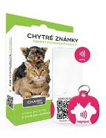 Tag4Pet Charm mini chytrá psí známka fialová