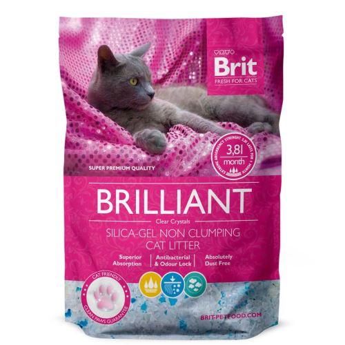 Brit Care Brilliant Silica-gel silikátová podestýlka pro kočky
