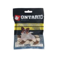 Snack ONTARIO Dog Rawhide Braided Stick Mix 7,5 cm