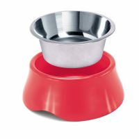 Miska pro psa Argi - nerez / plast - zelená - 1900 ml