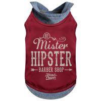 Tričko pro psa s límečkem Milk&Pepper - červené - 31 cm