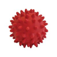 Hračka DOG FANTASY Latex míč s bodlinami a zvukem mix barev 6 cm