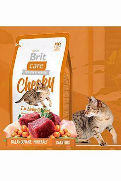 Brit Care Cat Cheeky I`m Living Outdoor - zvěřina & rýže pro kočky žijící venku