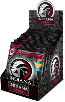 INDIANA Jerky hovězí, Hot & Sweet, 250g - display