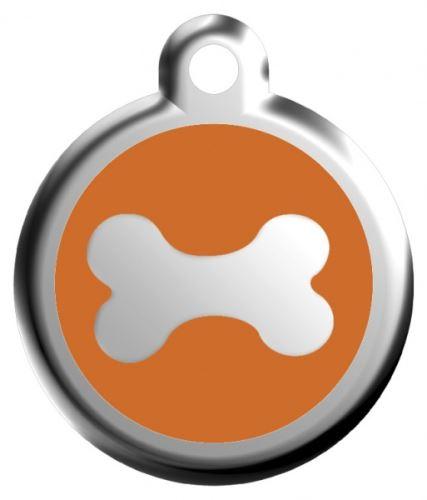 Red Dingo Známka oranžová vzor kost