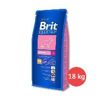 2 x Brit Premium Junior L 15 kg + 3 kg ZDARMA + Hovězí uši Argi 10 ks ZDARMA