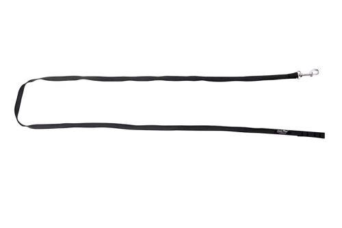 Vodítko pro psa s vetkanou gumovou nítí - černé - 1,6 x 120 cm