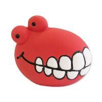 Hračka DOG FANTASY Latex zuby se zvukem červené 8 cm