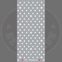 PET REBELLION Běhoun, puntíkovaný šedý, 45x100cm