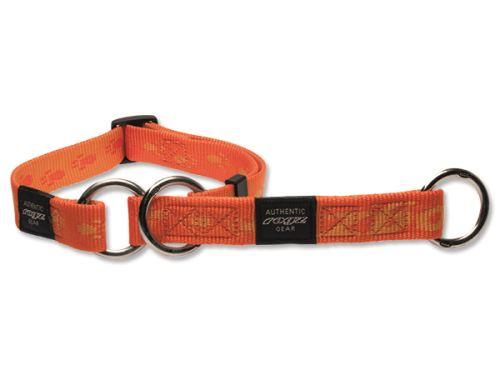 Obojek pro psa nylonový polostahovací - Rogz Alpinist - oranžový - 1,6 x 26 - 40 cm