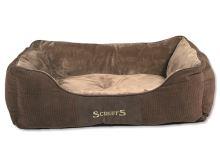 Scruffs Chester Box Bed pelíšek pro psy čokoládový - velikost  L, 75x60 cm