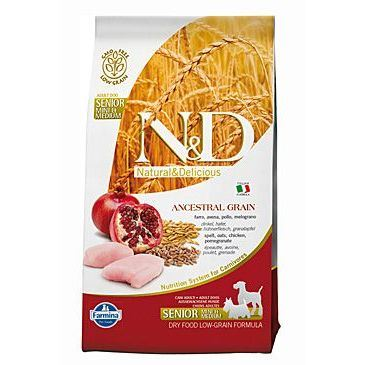 N&D Low Grain Dog Senior S/M Chicken & Pomegranate