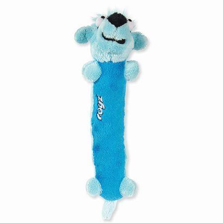 Rogz Clones Sausage Plyšová pískací hračka pro štěňata modrá