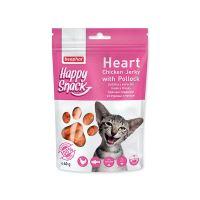 Pochoutka BEAPHAR Happy Snack Cat srdíčka z kuřecího masa a tresky 40 g