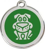 Red Dingo Známka zelená vzor pes - velikost S, 20 mm