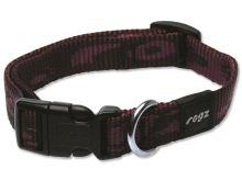 Obojek pro psa nylonový - Rogz Alpinist - fialový - 1,6 x 26 - 40 cm