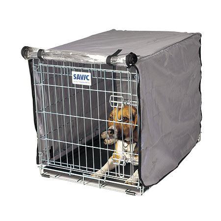 Savic Dog Residence Nylonový přehoz na klec šedo-stříbrný