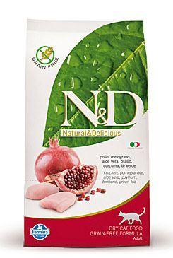 N&D Grain Free Cat Adult kuře + granátové jablko