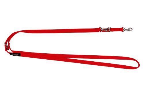 Vodítko pro psa přepínací nylonové - červené - 2,5 x 100 - 200 cm