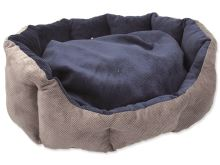 Pelíšek DOG FANTASY Koruna modrý 50 cm