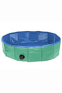 Karlie Skládací nylonový bazén pro psy zeleno-modrý, 120x30 cm