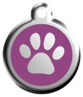 Red Dingo Známka fialová vzor tlapka