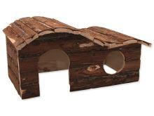 Domek SMALL ANIMAL Kaskada dřevěný s kůrou 43 x 28 x 22 cm