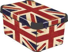 Curver úložný box, vzor britská vlajka, velikost L