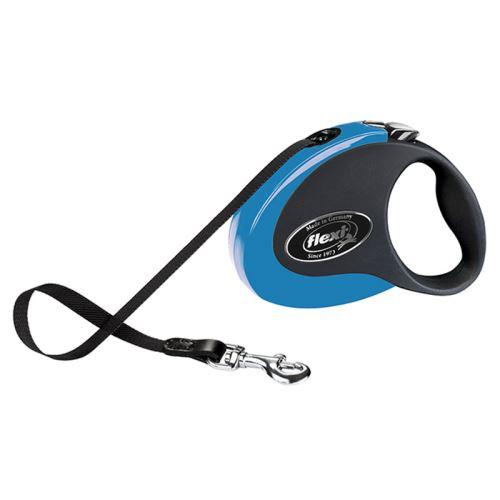 Vodítko FLEXI Collection S pásek 3m/12kg černá/modrá