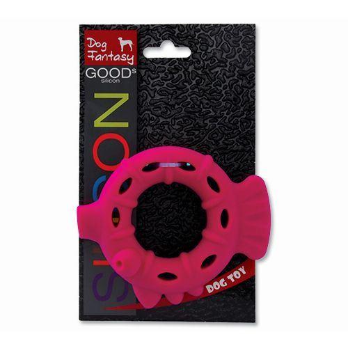 Hračka DOG FANTASY silikonový kroužek