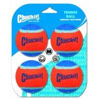 Chuckit! míčky tenisové oranžovo modré - velikost M, 6,5 cm, 4 ks