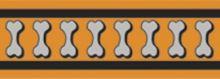 Red Dingo Obojek  pol. 25 mm x 41-62 cm - Bones R. - Oranžová