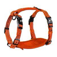 Alcott reflexní postroj pro psy, oranžový, velikost M