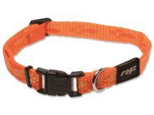 Obojek pro psa nylonový - Rogz Alpinist - oranžový - 1,1 x 20 - 32 cm